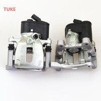 TUKE 1 Pair Rear Brake Caliper Pump Assembly 3C0 998 281 B 32332267 For Q3 Seat Alhambra VW Passat B6 B7 Tiguan Sharan