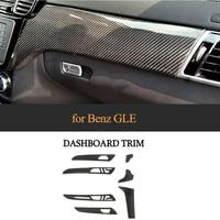 7pcs Carbon Fiber Interior Moldings Central Control Panel Trim Door Panel Cover for Mercedes Benz GLE 43 450 63 AMG 2016 18