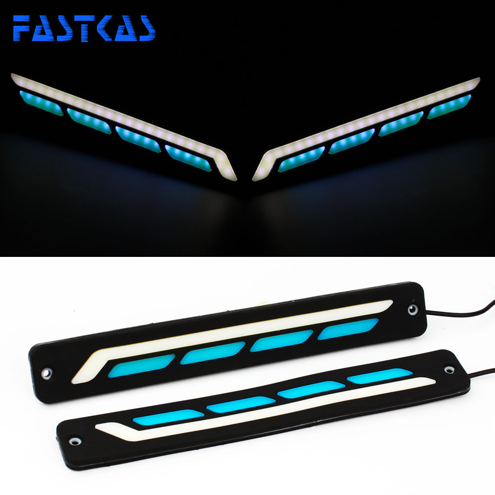 LED DRL Daytime Running Light 100% Waterproof White Blue Color Day Light Fog Light 12v Turning Signal Flexible Car Running Light mager ssr 100a dc dc solid state relay quality goods mgr 1 dd220d100