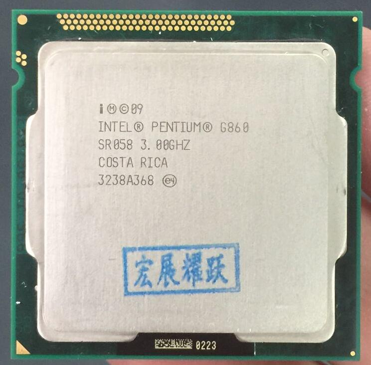 Intel Pentium Processor G860  (3M Cache, 3.00 GHz) CPU Dual-Core  LGA 1155 PC Computer Desktop CPU