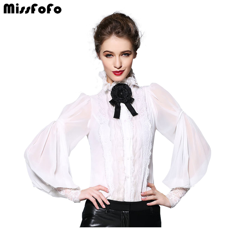 af085b54cb Miss FoFo 2018 New Fashion Body Shirt Women Shirt Casual Blouse Bow  Bodysuit Full Office Lady ...