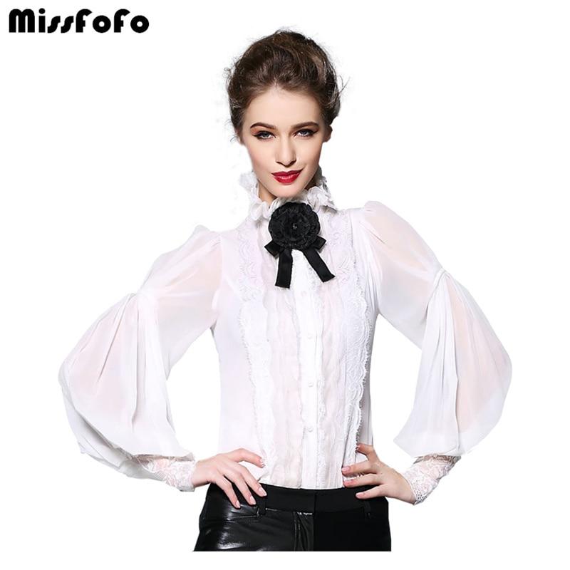 Miss FoFo 2018 One Piece Shirt Slim Bow Women's Demi-Season Casual Blouse 2018 Autumn Spring Fashion 2XL Sheer Chiffon 2 in 1