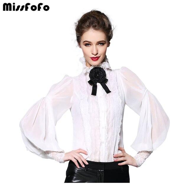 Miss FoFo 2018 цельная рубашка тонкий бант Женская демисезонная Повседневная Блузка 2018 осень весна мода 2XL чистый шифон 2 в 1