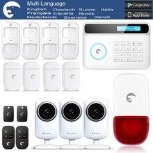 Etiger 2016 HD Cámara de Red eTiger S4 GSM SMS de Alarma Antirrobo Sistema de Seguridad para el Hogar/Oficina