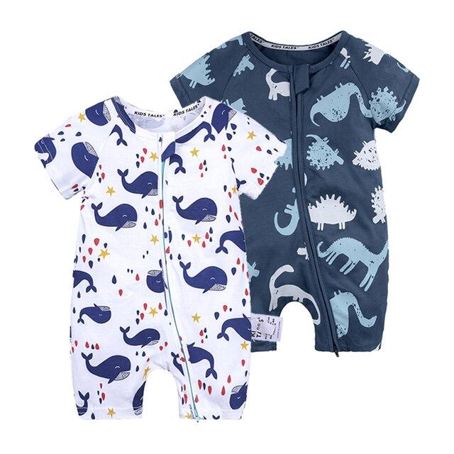 Combinaison Coton Nouveau-né bébé à manches courtes