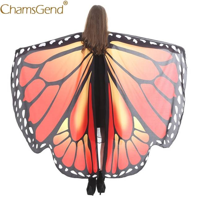 17dbd058100 US $9.41 28% OFF|Chamsgend Newly Design 14 Color Choice Colorful Large  Butterfly Wings Pashmina Shawl Women Girls Poncho Costume Accessory  80223-in ...