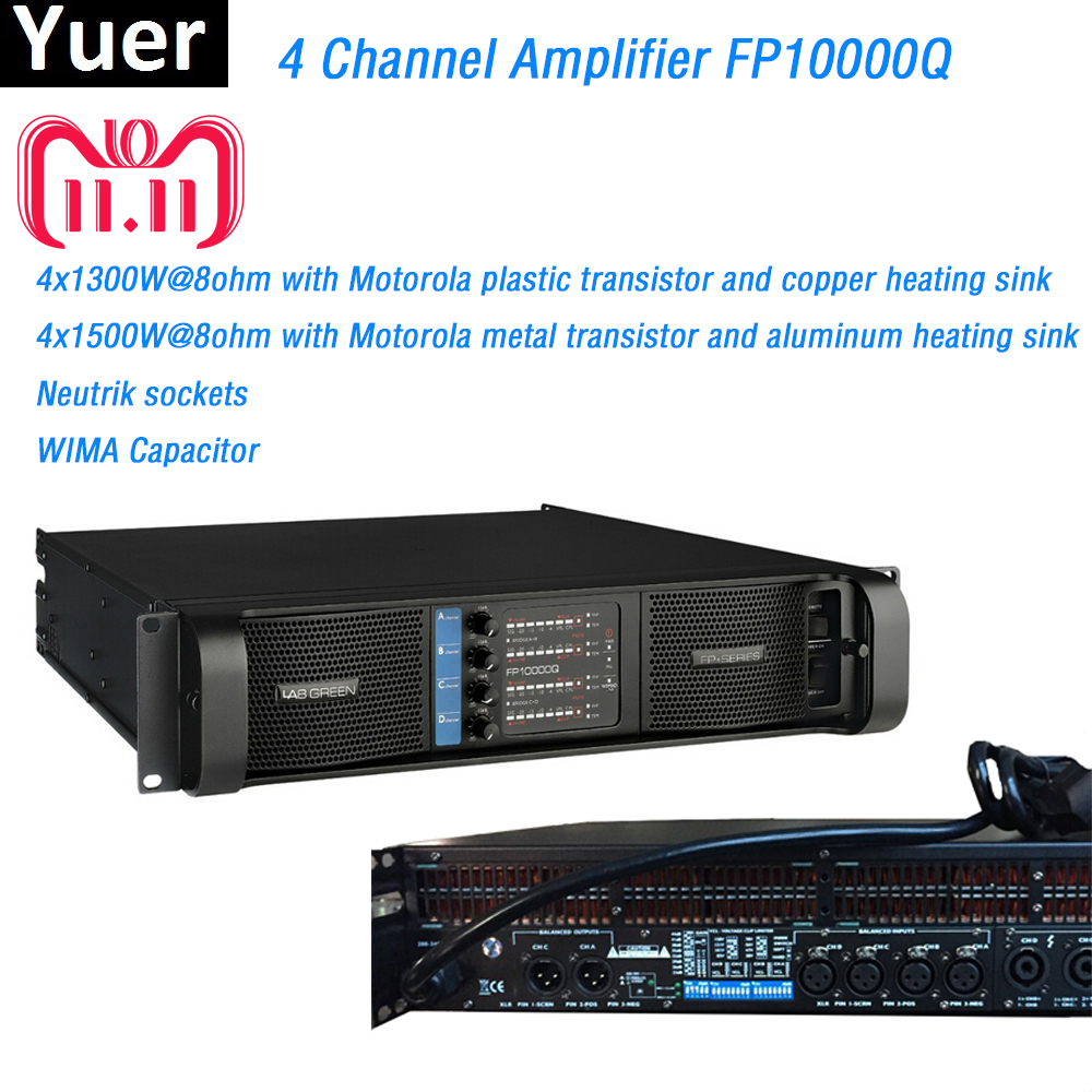 4 Channel Amplifier FP10000Q Line Array Amplifier NEUTRIK Connectors fp10000q line array professional Sound Power Amplifier Line 4 channels sound standard 2000w amplifier switching professional lab gruppen power amplifier fp10000q