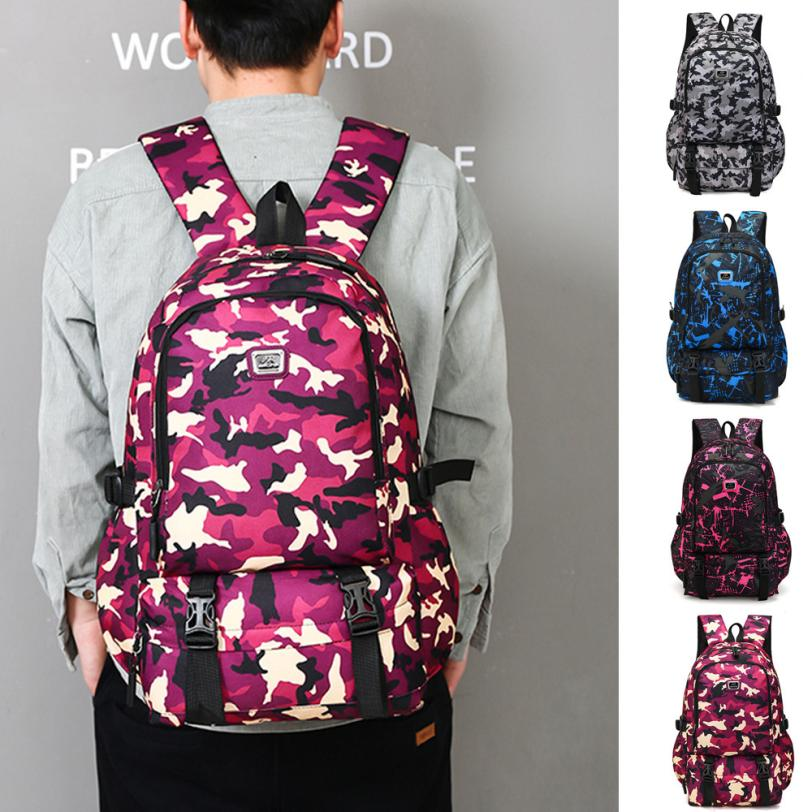 maison Backpacks high quality Causl Neutral Nylon Printing Backpack Men Travel Student Laptop backpack women 2018MA4 ...