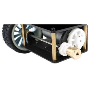 Image 4 - Elecrow 4WD Chassis Smart Car for Arduino Car Platform with Metal Servo Bearing Kit Steering Gear Control DIY 4 Wheel Robot Car