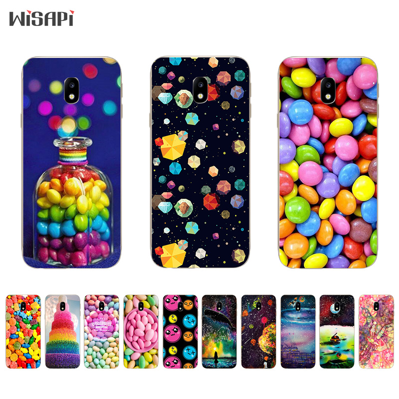 Galleria fotografica TPU Cases for Samsung Galaxy S8 / S8 Plus Phone Case for Galaxy J3 J5 J7 2017 Shell for J3 Prime Cover Rainbow Candy Pattern