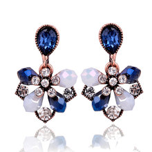2017 European fashion retro inlaid stone Rhine all-match personality female earrings jewelry factory direct wholesale