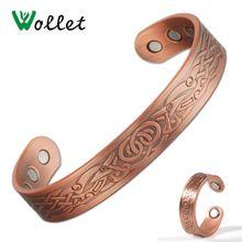 Магнитный браслет wollet из чистой меди кольцо для мужчин Открытый