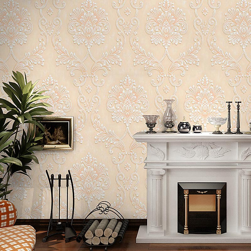 Luxury 3D Embossed Wallpaper Damascus Floral Pattern Home Decor Wallpapers Roll for Living Room Kids Room Bedroom Wall PaperLuxury 3D Embossed Wallpaper Damascus Floral Pattern Home Decor Wallpapers Roll for Living Room Kids Room Bedroom Wall Paper