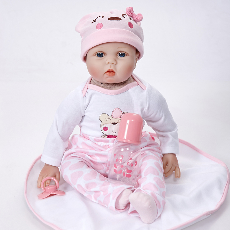 Lifelike Princess Girl Reborn Doll 22 Inch Realistic Silicone Real Touch Newborn Babies Toy With Clothes Kids Birthday Xmas Gift