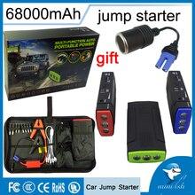 Продвижение multi-Функция мини Портативный аварийного Батарея Зарядное устройство автомобиля Пусковые устройства 68000 мАч Booster Запасные Аккумуляторы для телефонов пусковое устройство