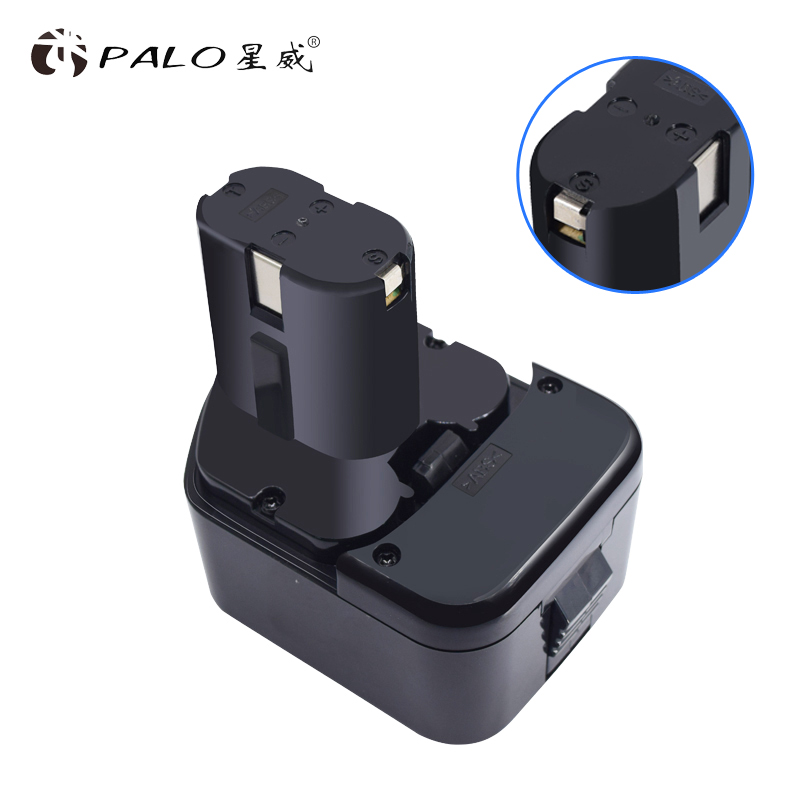 PALO 12V Battery for Hitachi Koki NICD EB1220BL EB1214S EB1212S WR12DMR CD4D DH15DV C5DC 5D, FDS 12DVC, FDV 12DV аккумулятор для hitachi bcc1215 eb1214l eb1214s eb1220bl eb1224 2000mah cameronsino