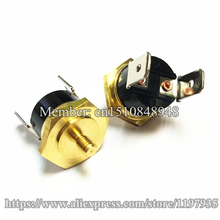 Hex head copper screw KSD301 10A 250V 100C Temperature Switch Screw cap M4 100 degrees  Normally closed