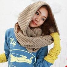 Новинка, красивый зимний теплый шарф для мужчин и женщин, вязаные шарфы, 2 круга, вязаный шарф-хомут, длинный шарф, шаль, Bufandas De