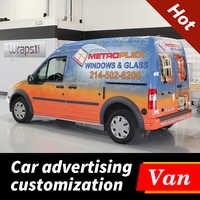 Hohe Qualität Personalisierte Custom Car Van Aufkleber Wasserdichte Vinyl Wrap Aufkleber Auto Fahrzeug Körper Hinten Fenster Werbung Aufkleber