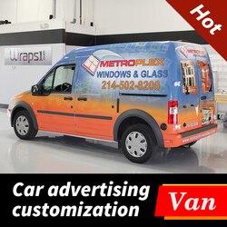 Wysokiej jakości spersonalizowane niestandardowe naklejki samochód dostawczy wodoodporne naklejki winylu Wrap Auto pojazdu tył nadwozia okno reklamy naklejki