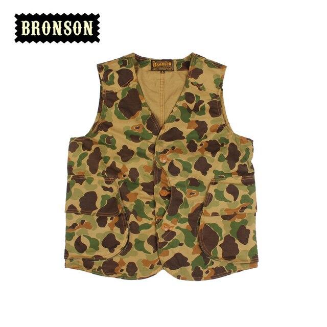 bronson  mens vest magic pocket Camouflage vest casual male vest
