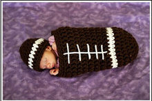 Newborn Photography Props Boy Rubgby Football Costume Crochet Sleeping Bag + Beanie Hat Studio Photo Props A105 Baby Shower Gift(China)