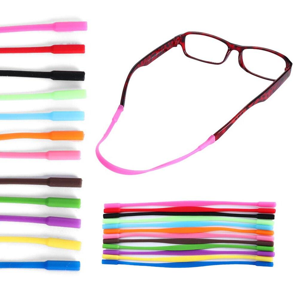 2Pcs Adjustable Silicone Glasses Sunglasses Chain Eyeglasses Straps Sports Band Cord Holder Elastic Anti Slip String Ropes Hot