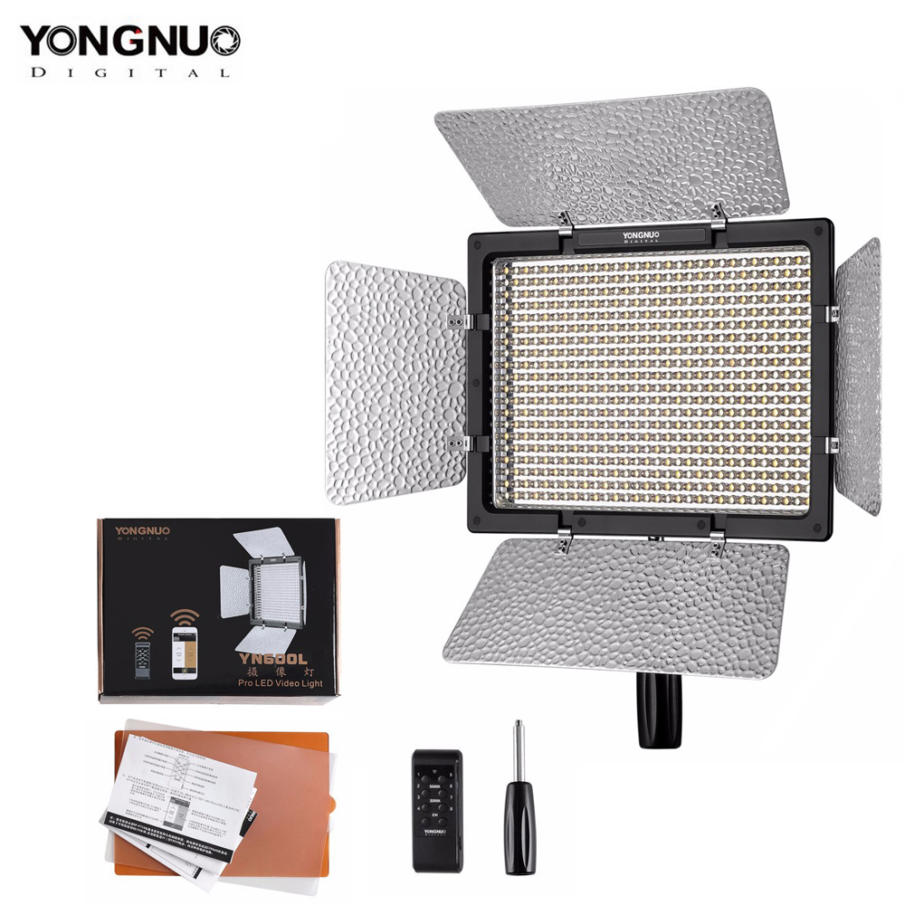 YONGNUO <font><b>YN600L</b></font> YN600 LED Video Light Panel with Adjustable Color Temperature 3200K-5500K photographic studio lighting image