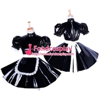 lockable Sissy maid PVC dress Uniform cosplay costume Tailor made[G1654]