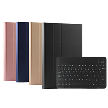 For Samsung Galaxy Tab A 10.5 2019 T590 T595 Tablet Case PU Leather wireless Keyboard Bracket Flip Case with Magnetic Function bluetooth keyboard for samsung galaxy note gt n8000 n8010 10 1 tablet pc wireless keyboard for tab a 9 7 sm t550 t555 p550 case
