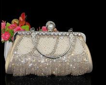 2016 новая сумочка сторонняя алмазный кисточкой жемчужина сцепления вечерняя сумочка женщины сумку платье замуж мешок флэш-пакет