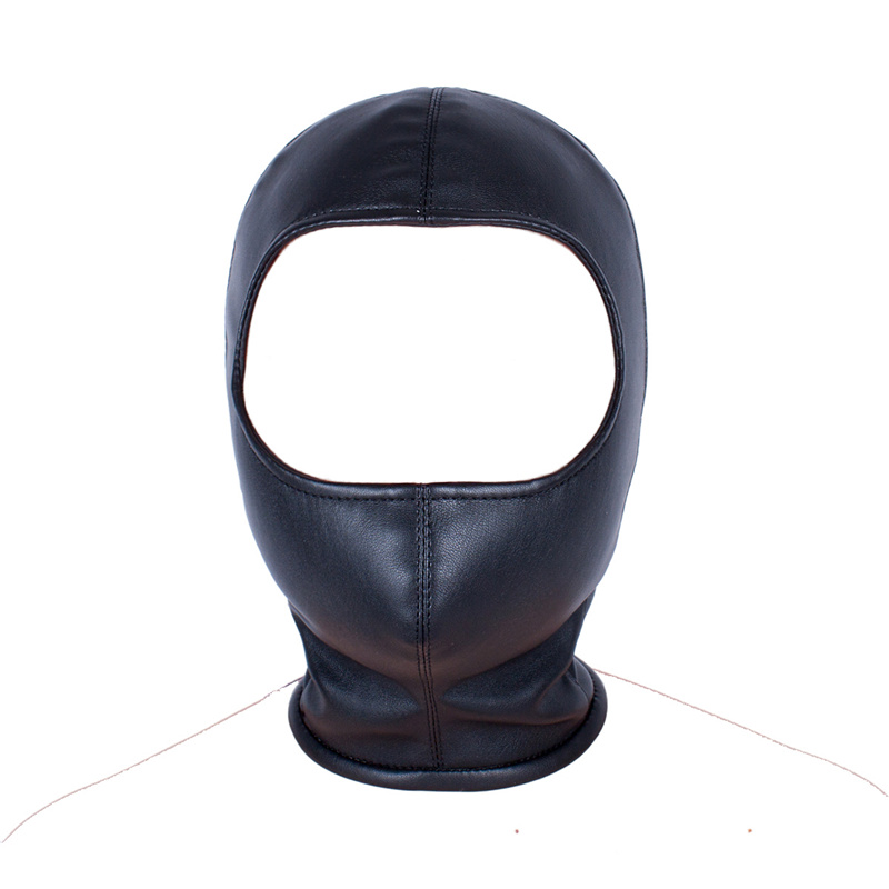 Mystery Sexy Toys Women PU Leather Hood Mask Open Eyes Mouth Breathable Headpiece Female Seduce Erotic Toys Adult Game Play