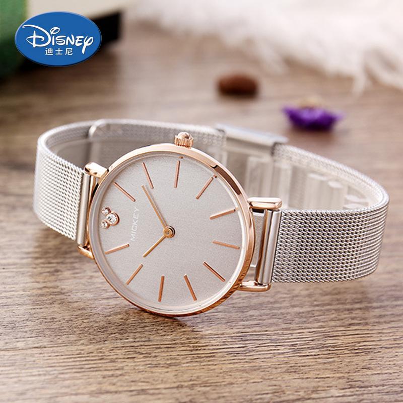 Disney women watches Fashion Cool Cute Quartz Wristwatches luxury thin women watch Waterproof Mickey Mouse