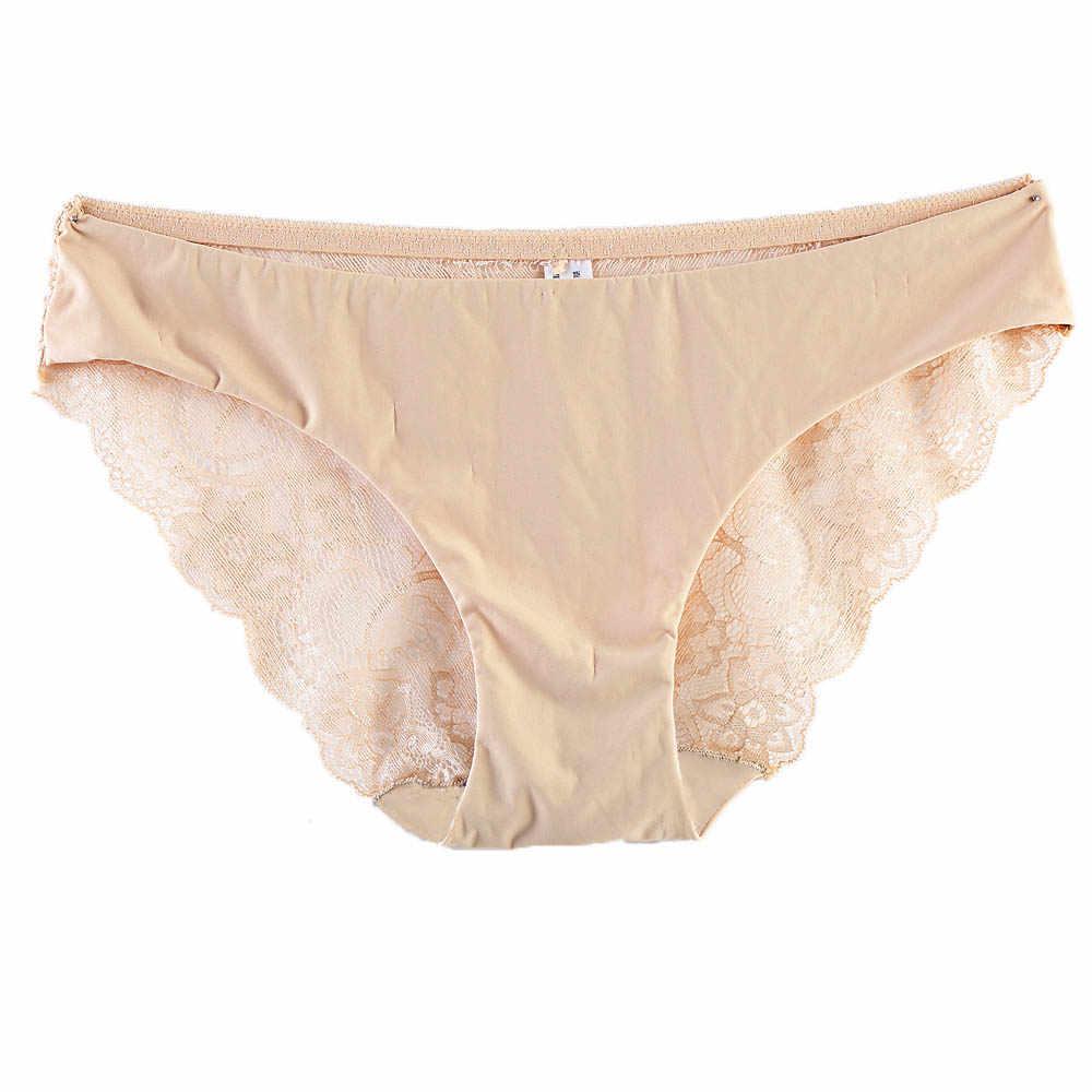 Mujer เซ็กซี่ Culotte Dentelle เพศผู้หญิงลูกไม้สั้นต่ำเอวกางเกงกางเกงผู้หญิงดูผ่านชุดชั้นในสตรี Intimate