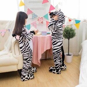 Image 5 - Kid Blue Rabbit Cosplay Kigurumi Onesies Child Cartoon Winter Anime Jumpsuit Costume For Girl Boy Animal Sleepwear Pajamas
