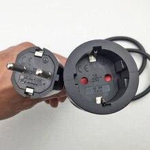 250V 16A Европейский/Пособия по немецкому языку Стандартный резьбой раструбного соединения для штепсельной вилки Мощность линии 3*1,5 мм кабель гнездо для шнура удлинителя