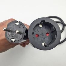 250 В в 16A Европейский/пособия по немецкому языку стандартный разъем и Plug мощность линии 3 * гнездо для шнура удлинителя мм кабель 1,5