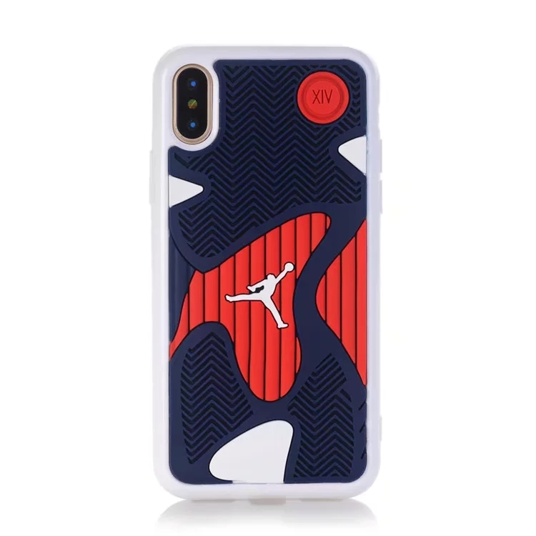 2017 NEW Michael Jordan 14 10 Shoe Sole Rubber case For iphone x High-quality three-dimensional pattern for iphoneX 10 cover