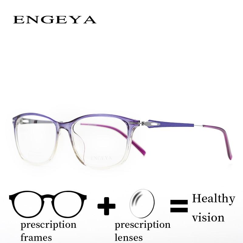 Prescription Glasses Fashion Glasses Women Clear Noughts Zero Glasses Computer Myopia Hyperopia Prescription Spectacles 6 Colors