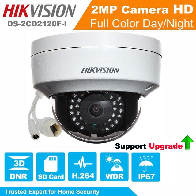 Hikvision Network Mini Dome Camera 2MP DS-2CD2120F-I EXIR Turret Network Camera CCTV camera POE IP67 Support Upgrade hikvision cctv poe 4mp camera ds 2cd3345 i hd night version onvif exir turret wdr dome ip security camera replace ds 2cd2345 i