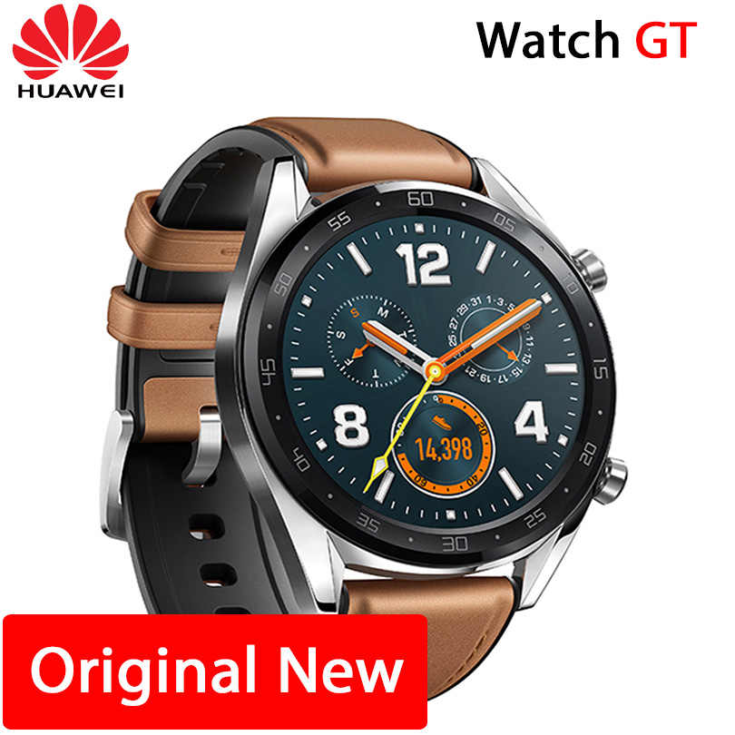 Huawei Watch GT Smart watch Support GPS NFC 14 일 Battery 삶 5 ATM 물 proof 폰 콜 Heart Rate 추적기 대 한 Android iOS