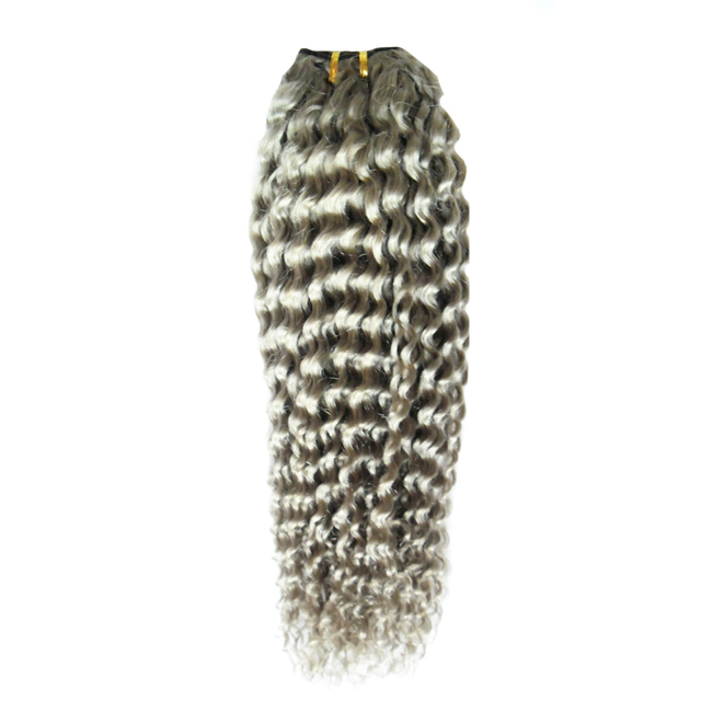 Hot Sales Ash Blonde Hair Extensions Double Drawn Grey Hair Weave