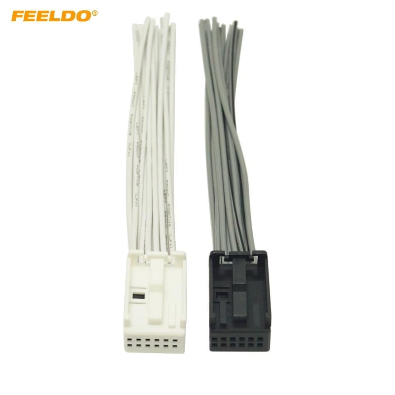 feeldo 1pair car radio aux wire harness adapter white black full 12 rh aliexpress com Ford Factory Radio Wiring Harness Ford Wiring Harness Diagrams