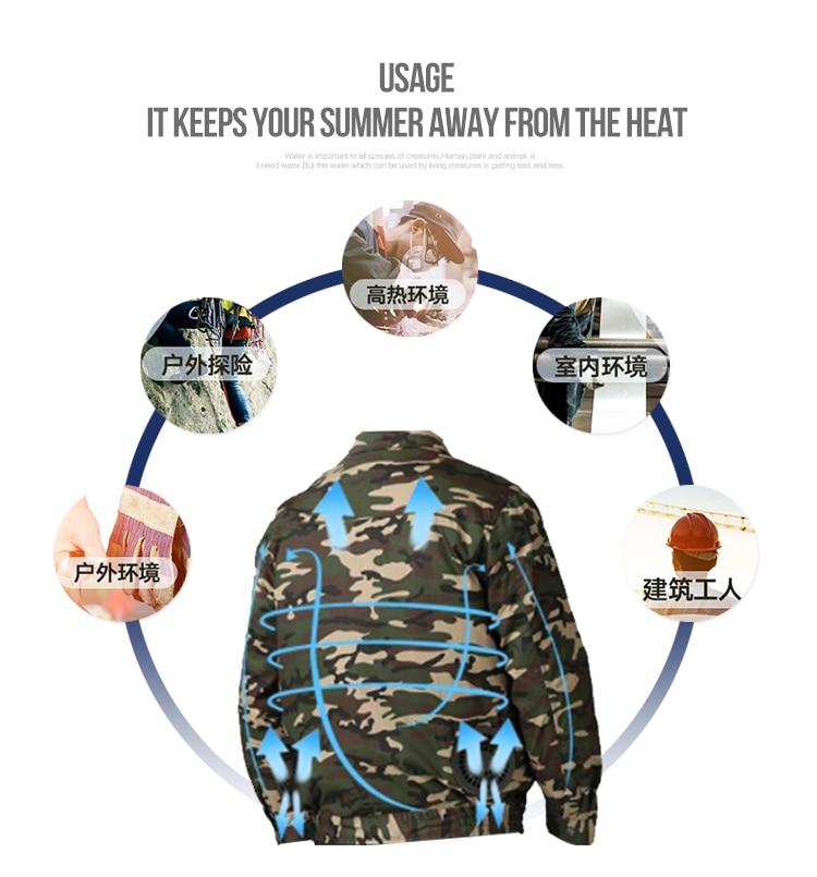 condicionado ventilador jaquetas para alta temperatura ao