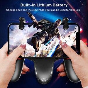 Image 2 - PUBG المحمول جهاز التحكم في عصا التحكم برودة غمبد الحرة النار L1R1 مع مروحة التبريد للهاتف المحمول أذرع التحكم في ألعاب الفيديو المقود أزرار