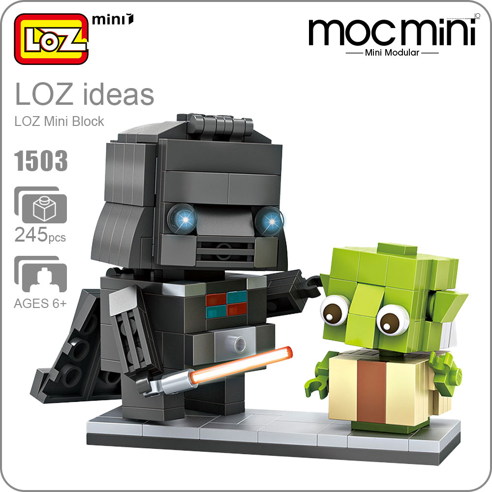 LOZ Mini Block Character Alien Doll Movie Figure Bricks Building Action Figure Assembly Toy Models Intellectual Toys DIY 1503