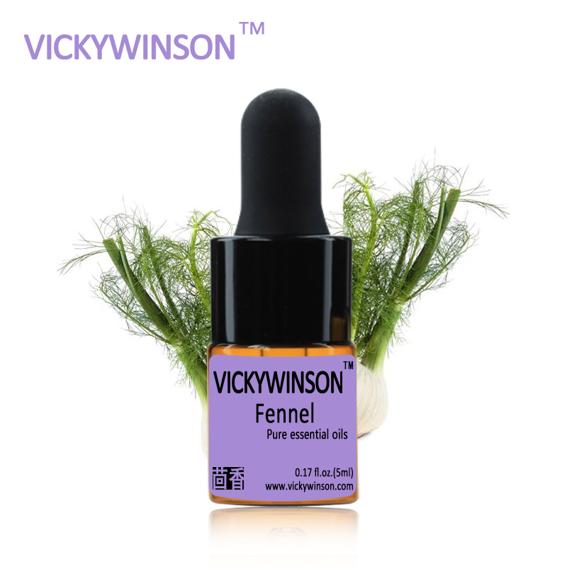 Fennel essential oil 5ml Relieve stomach SPA body massage Fragrance light essential oils for aromatherapy diffusers in Essential Oil from Beauty Health
