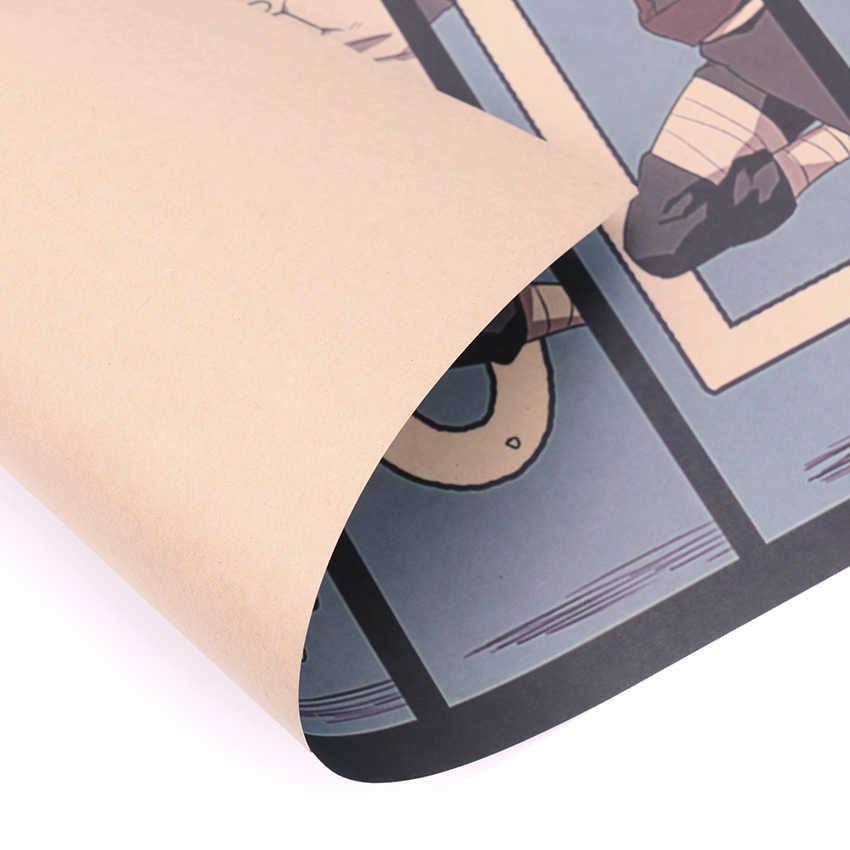 TIE LER, винтажный постер в стиле аниме, Naruto Bar, детская комната, домашний декор, комиксы, Наруто, ретро, крафт-бумага, картина 50,5x35 см