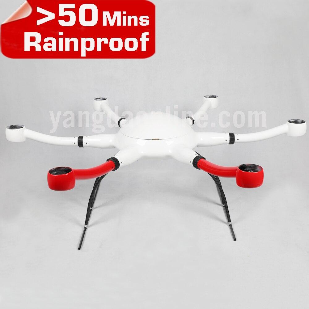 YD6 1000 s coude Grand Drone cadre À Long Temps de Vol RC Multirotor Corps Shell Moteur D'assemblage de Bricolage UAV pour Professionnel caméra Drone