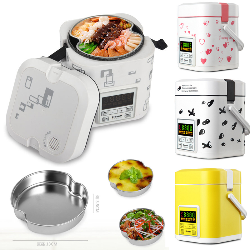 Wholesale Electric Double Layer Lunch Box Stainless Steel Interior Cooking Digital Electronic